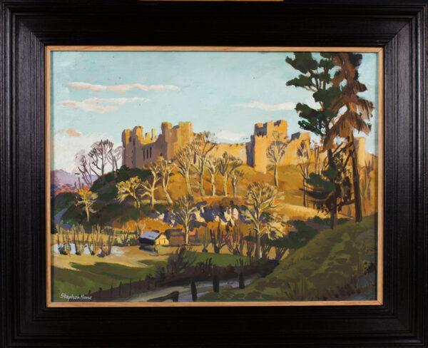 BONE Stephen N.E.A.C. (1904-1958) - 'Ludlow Castle' from the West.