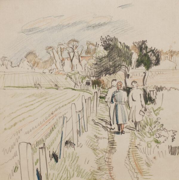 BONE Stephen N.E.A.C (1904-1958) - 'Path by the field'.