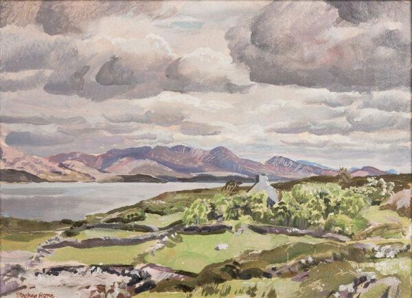 BONE Stephen N.E.A.C (1904-1958) - 'The Caha Mountains and the Back Strand, Bere'.
