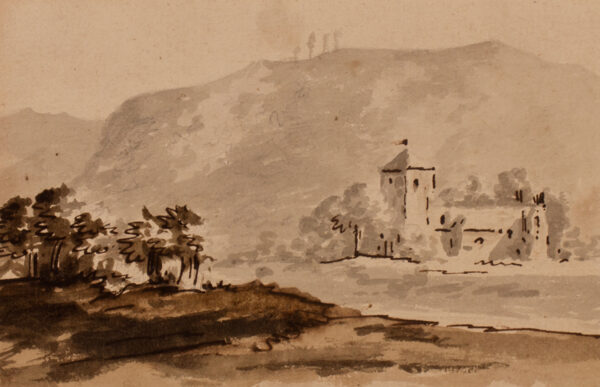 BOOTH B (Late 18th Century) - 'Approach to Dunkeld Abbey / … / By B Booth – after Gilpin – 1790 – from W.