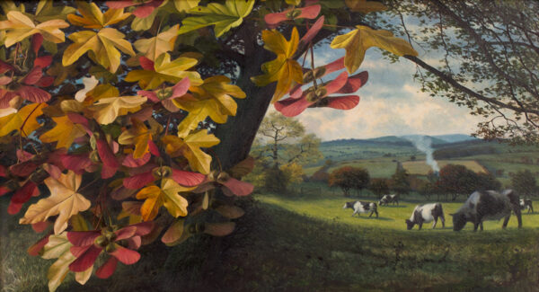 BOOTH Raymond (1929-2015) - Maple leaves and Fresian cattle.