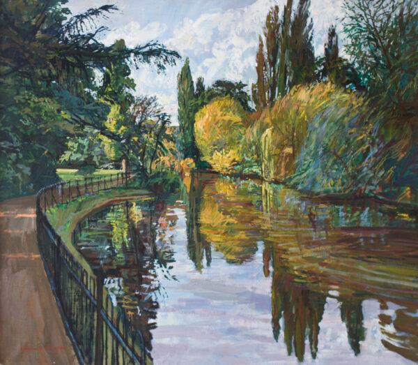 BOWYER William R.A. (b.1926) - Pool at Kew.