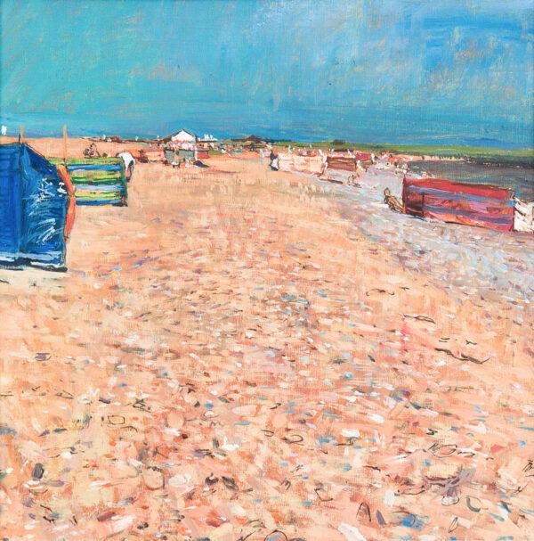 BOWYER William R.A. (b.1926) - Walberswick beach.