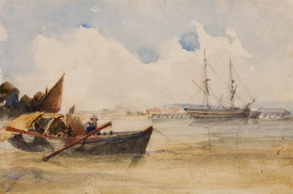SHOTTER BOYS Thomas (1803-1874) - 'Barking' Creek.