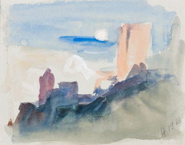 BRABAZON Hercules Brabazon N.E.A.C. (1821-1906) - Castle study.