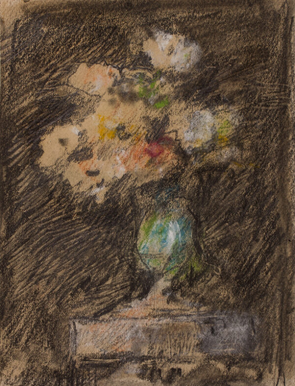 BRABAZON Hercules Brabazon N.E.A.C. (1821-1906) - Light and shade: a vase of flowers.