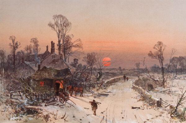 BRANWHAITE Charles (1817-1880) - Devon: 'Winter at Westhyn'.