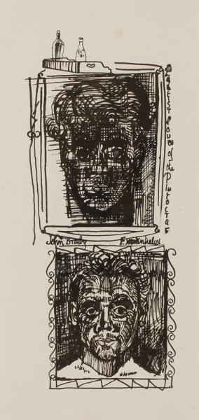 BRATBY John R.A. (1928-1992) - 'Plutocrat' and 'Existentialist'.