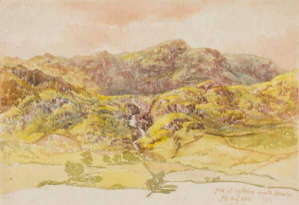 BRETT John A.R.A. (1831-1902) - 'Hills near Wythburn opposite Helvellyn'.