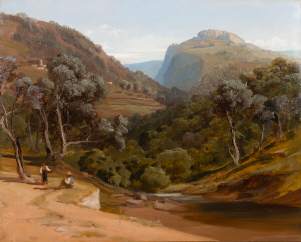 BRIDELL Frederick Lee (1831-1863) - Mountains south of Rome.