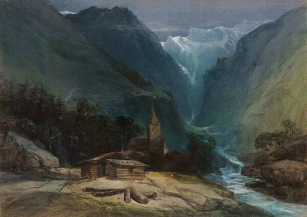 BRIGHT Henry (1810-1873) - 'In the Alps'.