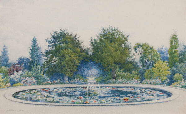 BRINDLEY Charles (Exh: 1888-1896) - The gardens at Hampton Court.