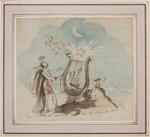 BROOKE William Henry (1772-1860) - A Fairy harp.