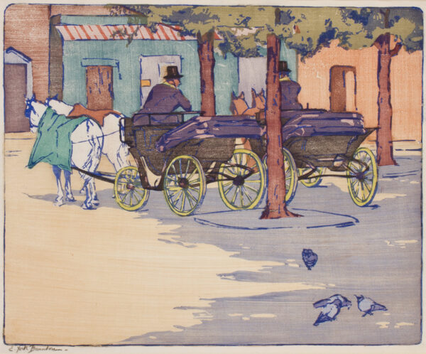 BRUNTON Elizabeth York S.S.A. S.W.A (Exh: 1906-1936) - 'Fiacres'.