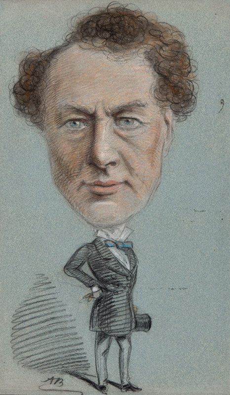 BRYAN Alfred (1852-1899) - Caricature portrait.