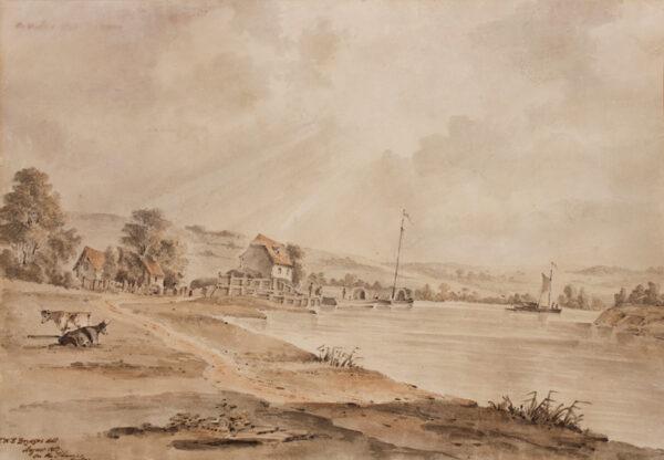 BRYDGES J. W. E. (Regency) - 'On the Thames near Marlow'.