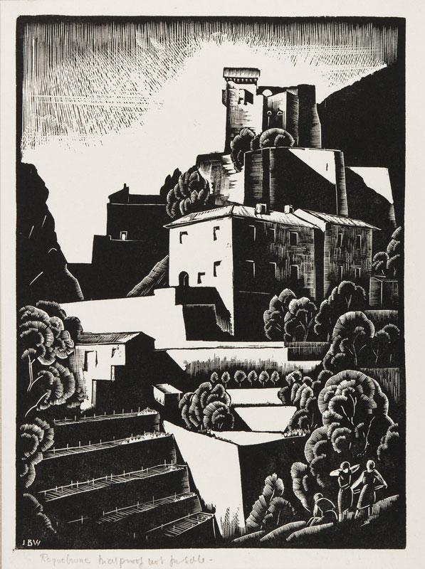 BUCKLAND WRIGHT John (1897-1954) - 'Roquebrune' (CBW, L.