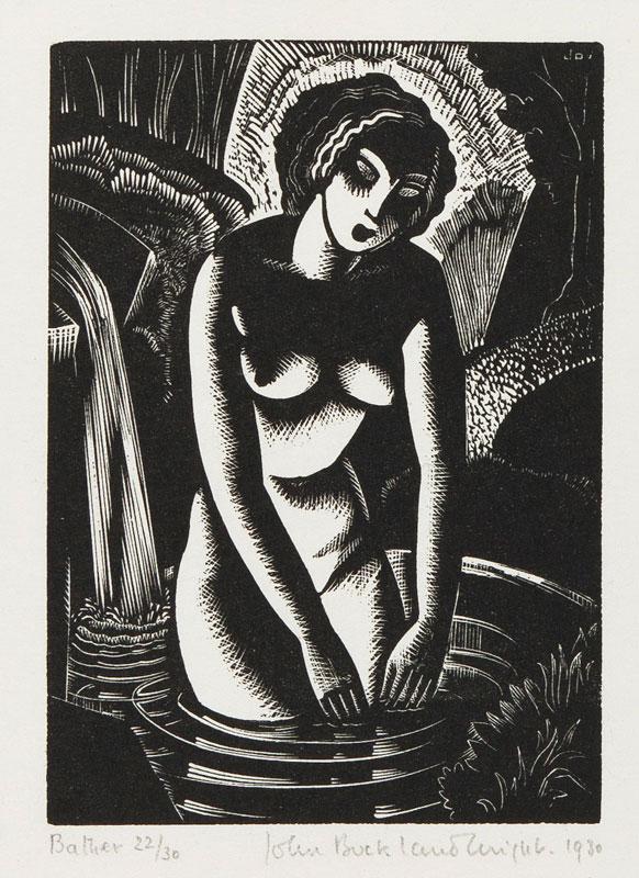BUCKLAND WRIGHT John (1897-1954) - 'Bather' (CBW, L.