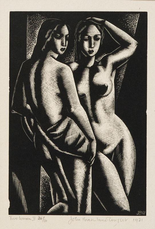 BUCKLAND WRIGHT John (1897-1954) - 'Two Women No.
