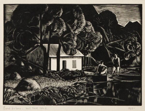 BUCKLAND WRIGHT John (1897-1954) - 'Bord du Lac' (CBW, L.