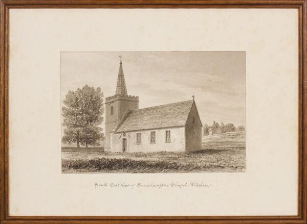 BUCKLER John F.S.A. (1770-1851) - Wiltshire; Sevenhampton Chapel.