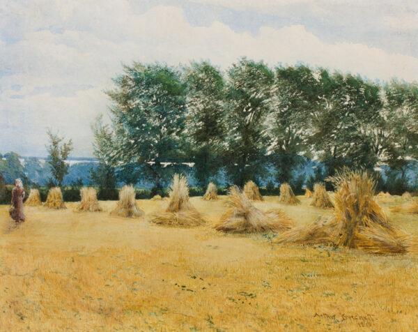 BURCHETT Arthur (fl.1874-1900) - The distant sea.