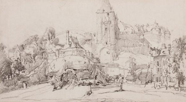 BURGESS John Jnr A.O.W.S. (1814-1874) - France.