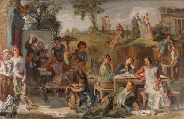 BURN Rodney (1899-1984) - Fete Champetre; his Slade contemporaries composed according to the Masters (especially Veronese).