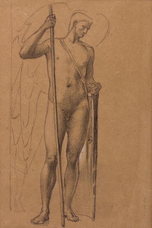 BURNE-JONES Sir Edward Coley A.R.A. (1833-1898) - St Michael, Archangel.