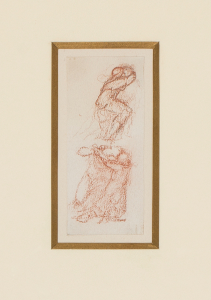 BURNE-JONES Sir Edward Coley A.R.A. (1833-1898) - Preparatory study for 'Love among the ruins' (1870-1873) Pencil and red chalk.