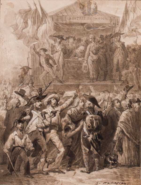 CABASSON Guillaume-Alphonse Harang (1814-1884) - 'La Patrie en danger'.