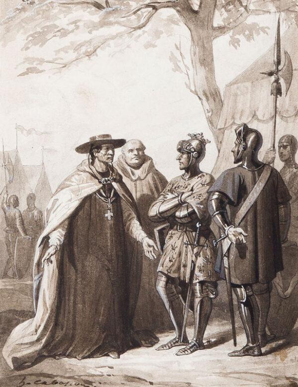 CABASSON Guillaume Alphonse Hareng (1814-1884) - A Truce.