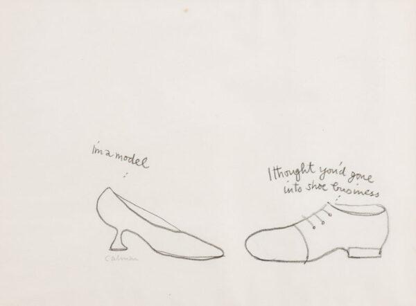 CALMAN Mel (1931-1994) - Shoe courtship.