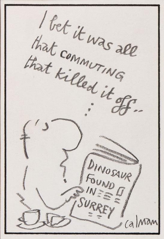 CALMAN Mel (1931-1994) - 'Dinosaur found in Surrey'.
