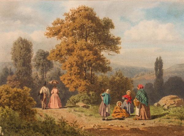 CALMELET Hedwig (b.1814) - Isle de France: 'Environs de Chaveille'.