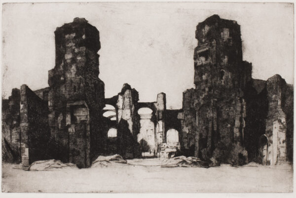 CAMERON Sir David Young R.A. R.E. R.S.A. R.W.S. (1865-1945) - The Baths of Caracalla.