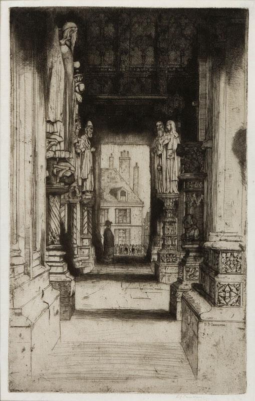 CAMERON Sir David Young R.A. R.E. R.S.A. R.W.S. (1865-1945) - 'Chartres' (FR32).