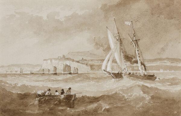 CARMICHAEL John Wilson (1799-1868) - Shipping off the Northumberland Coast.