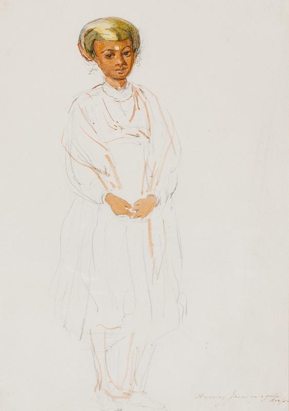 CARPENTER William (1818-1899) - 'A young Jain in a gala dress'.