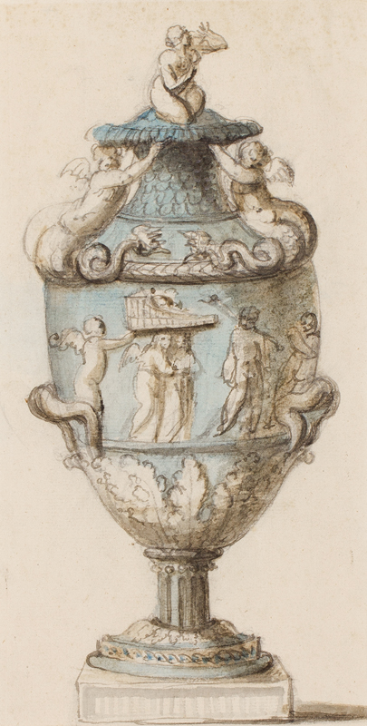 WEDGWOOD Circa 1790. - Design for a Jasperware vase, possibly by Lady Diana Beauclerk (1734-1808).