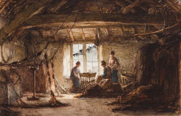 CARTER Hugh R.I. (1837-1903) - The net shed.
