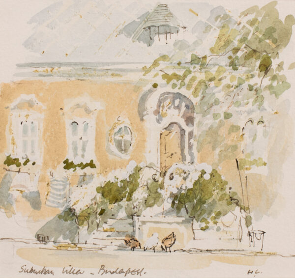 CASSON Sir Hugh P.R.A. C.H. (1910-1999) - 'Suburban Villa, Budapest'.