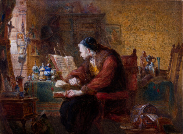CATTERMOLE Charles (1832-1900) - 'The Antiquarian'.