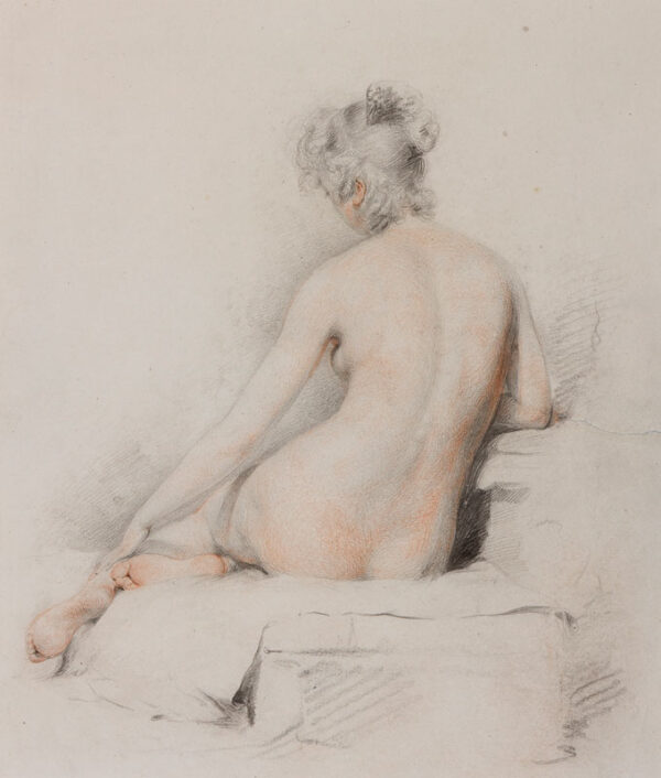CATTERSON-SMITH Stephen P.R.H.A. (1806 – 1872) - Life study: back view.