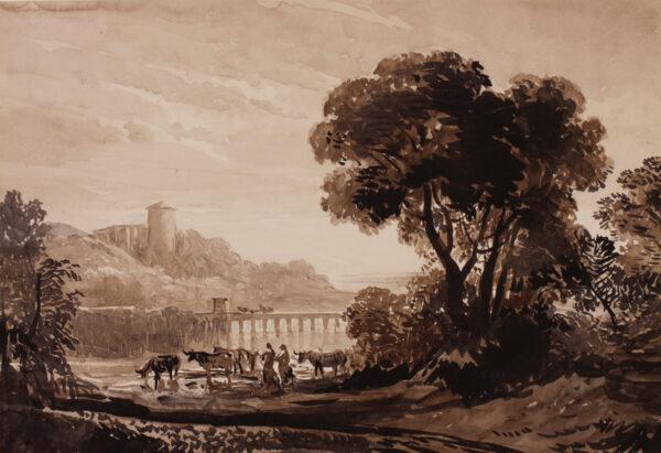 CHALON John James R.A. O.W.S. (1778-1854) - 'In the Manner Of'; a Sketching Club Subject.