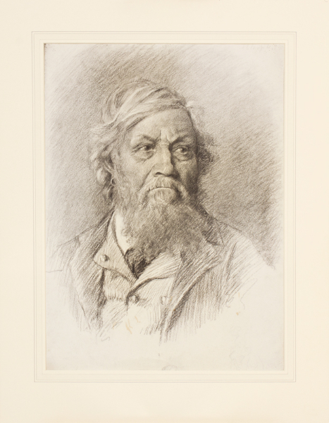 CHAPLIN Florence (Mrs Ernest Howard Shepard b.c.1879-1927) - Art School head study.