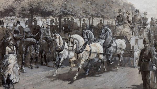 CHARLTON John (1849-1917) - Hyde Park: 'Rotten Row'.