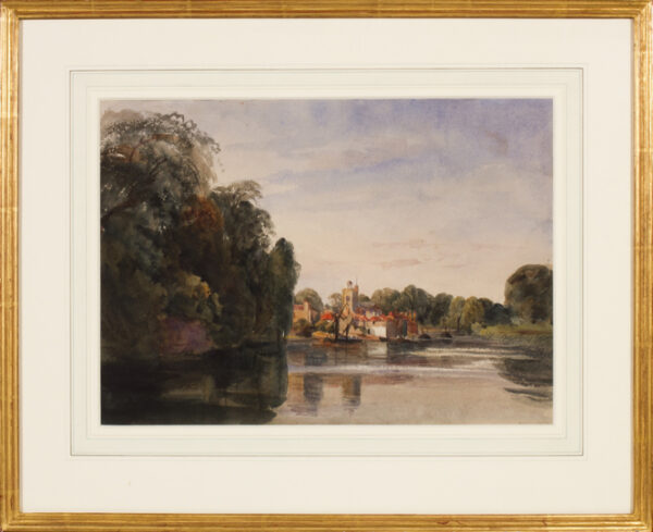 CHENEY Robert Henry (1801-1866) - The Thames near Twickenham.