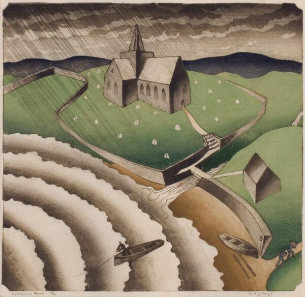 CHEYNE Ian (1895-1955) - 'The Fisherman's Church'.