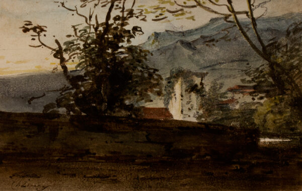 CHINNERY George (1774-1852) - Fort within trees.